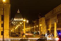 Via della Conciliazione and St. Peter's Basilica by Evren Kalinbacak