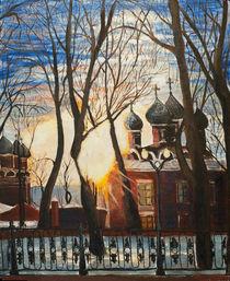 Winter sunset by Katerina Kopaeva