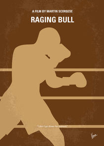 No174 My Raging Bull minimal movie poster von chungkong