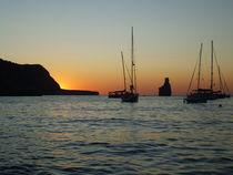 Boat Sunset, Ibiza von Tricia Rabanal