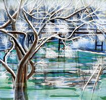 Winterflusslandschaft by Heidi Schmitt-Lermann