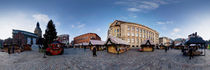 Doma square panorama, Riga, Latvia in Christmas von paulsphoto