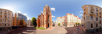 St. Gertrude Old Church panorama in Riga, Latvia von paulsphoto