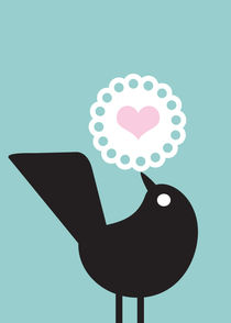bird and heart von thomasdesign