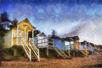 Wells Beach huts by Mark Bunning