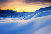 Sunset in the mountains in the Alps by Zoltan Duray