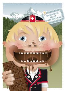 swiss chocolate boy von unikum Silvia Ringgenberg / Barbara Flückiger