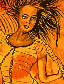 Frau mit Schaal by Irina Usova