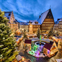 Christmas Market in Hildesheim, Germany von Michael Abid