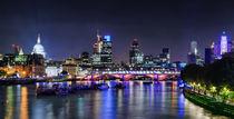 London Night Skyline by Michael Abid