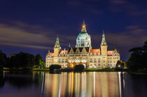 City Hall of Hannover by night von Michael Abid