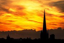 Norwich fiery sky von Jordan Browning