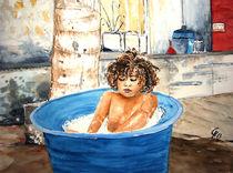 Kind auf Mauritius von Christine  Hamm