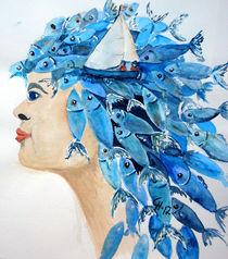 Frau mit Fische als Haar von Christine  Hamm