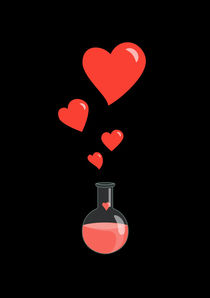 Flask of Hearts Geek Valentine's Day von Boriana Giormova