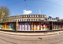 Art wall Chocolate factory of Latvia, Riga by paulsphoto