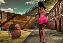 Happenings under Brooklyn bridge. by Maks Erlikh