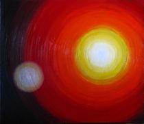 Leuchtend sind wir nur aus unserer Mitte by Helmut Hackl