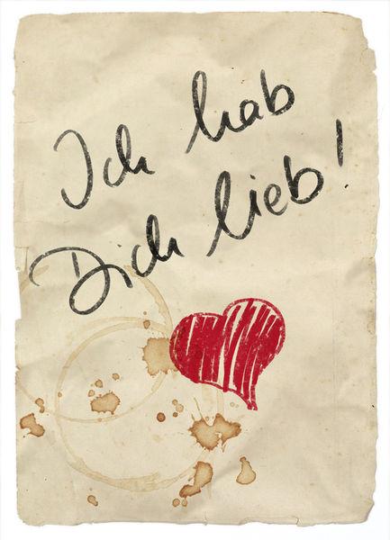 Ich hab Dich lieb Zeichnung als Poster und Kunstdruck