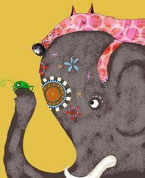 Der Elefant, der Fuchs und die Grille by Tine Diederich