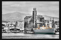 another view of port of piraeus by kostas samonas