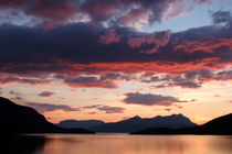 Sunset colored clouds over Gratangen fjord by Intensivelight Panorama-Edition