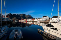 Harbor in Henninsvaer on Lofoten von Intensivelight Panorama-Edition