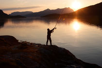 Angler at sunset von Intensivelight Panorama-Edition