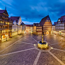 Historic old city of Hildesheim, Germany von Michael Abid