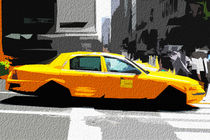Block USA 2008 – Set 001 – Bild A – Times Square – Yellow Cab von Peter Heiko Wassenberg
