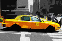 Block USA 2008 – Set 001 – Bild B – Times Square – Yellow Cab von Peter Heiko Wassenberg