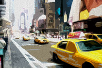Block USA 2008 – Set 003 – Bild A – Times Square – Yellow Cab von Peter Heiko Wassenberg