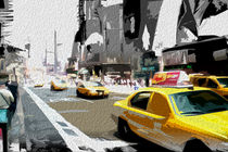 Block USA 2008 – Set 003 – Bild B – Times Square – Yellow Cab von Peter Heiko Wassenberg