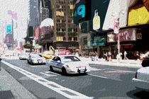 Block USA 2008 – Set 005 – Bild A – Times Square – Yellow Cab by Peter Heiko Wassenberg