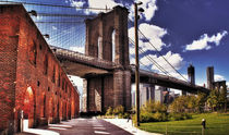 BROOKLYN BRIDGE FROM BROOKLYN BRIDGE PARK von Maks Erlikh