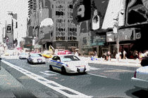 Block USA 2008 – Set 005 – Bild B – Times Square – Police Car by Peter Heiko Wassenberg