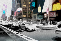 Block USA 2008 – Set 005 – Bild C – Times Square – Police Car by Peter Heiko Wassenberg