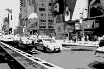 Block USA 2008 – Set 005 – Bild D – Times Square – Police Car by Peter Heiko Wassenberg