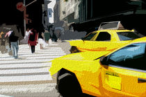 Block USA 2008 – Set 008 – Bild A – Times Square – Yellow Cab von Peter Heiko Wassenberg