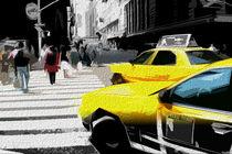Block USA 2008 – Set 008 – Bild B – Times Square – Yellow Cab von Peter Heiko Wassenberg