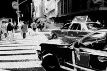 Block USA 2008 – Set 008 – Bild D – Times Square – Yellow Cab by Peter Heiko Wassenberg
