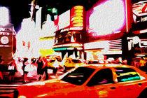 Block USA 2008 – Set 010 – Bild A – Times Square – Yellow Cab by Peter Heiko Wassenberg