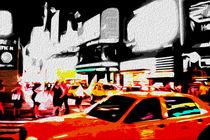 Block USA 2008 – Set 010 – Bild B – Times Square – Yellow Cab by Peter Heiko Wassenberg
