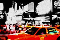 Block USA 2008 – Set 010 – Bild C – Times Square – Yellow Cab by Peter Heiko Wassenberg