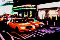 Block USA 2008 – Set 012 – Bild A – Times Square – Yellow Cab von Peter Heiko Wassenberg