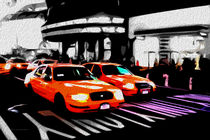 Block USA 2008 – Set 012 – Bild C – Times Square – Yellow Cab by Peter Heiko Wassenberg