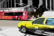 Block USA 2008 – Set 015 – Bild B – Times Square – Yellow Cab, Bus by Peter Heiko Wassenberg