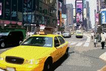 Block USA 2008 – Set 017 – Bild A – Times Square – Yellow Cab by Peter Heiko Wassenberg