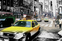 Block USA 2008 – Set 017 – Bild B – Times Square – Yellow Cab von Peter Heiko Wassenberg
