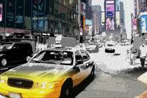 Block USA 2008 – Set 017 – Bild C – Times Square – Yellow Cab by Peter Heiko Wassenberg